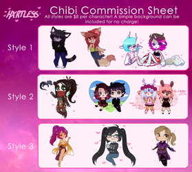 Chibi Comm Prices 2018 [Open] by hxrtless
