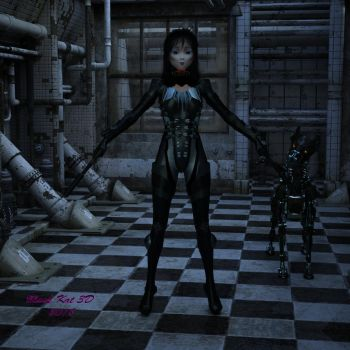 Asian Android Assassin by black-kat-3d