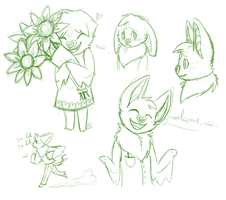 Cherry doodles by blinding-eclips