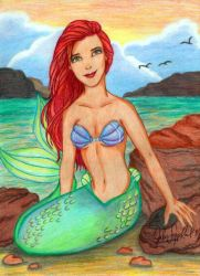 The Little Mermaid by jujubeeze