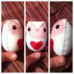 Valentine's Day Owl Plush Toys by killmylovekill