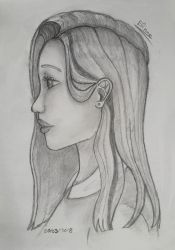 Profile portrait during ethics class by Nagamii-Chan