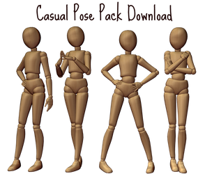 Casual Pose Pack by Neverlia