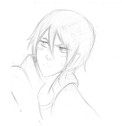 Sketch Rukia male version by lylyn19937