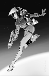 Steampunk Astronaut Pinup by willterrell