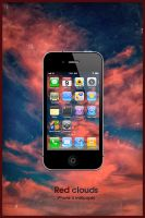 iPhone 4 Red Clouds Wallpaper by Martz90