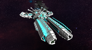 Keres Combat Cruiser front view by thesurviver