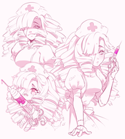 Pink sketchpage - Kagome by Nairuuh