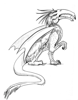 Inktober Dragon 8 by LiminalWorks