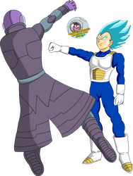 vegeta vs hit by EmeraldLighting