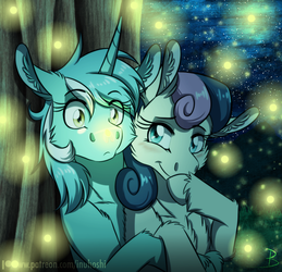 Firefly Date - Lyra and Bon Bon Day - 2018 by InuHoshi-to-DarkPen