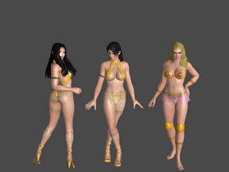 Golden Bikini Model Pack by SumireJaganshi