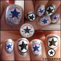 converse nails by Ninails