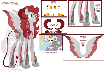 [MLP Oc] Alexya The Demon Princess by Cappuccinno