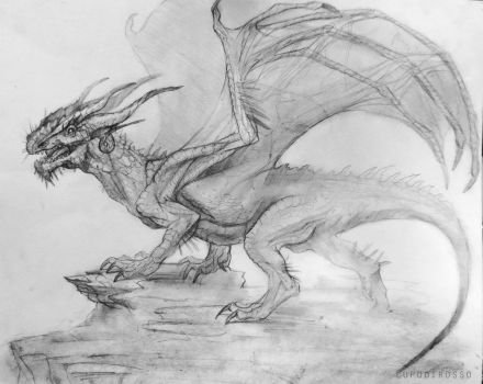 study of a dragon by lupodirosso