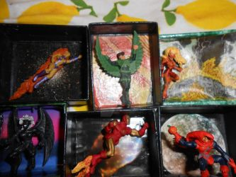 HeroClix Diorama Refrigerator Magnets by chicgeekmsw