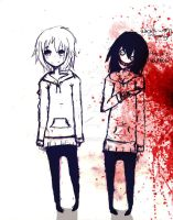 Normal Jeff and Jeff The Killer by MayxXx27x