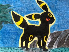 Umbreon at night by Ash-Misty-Pikachu
