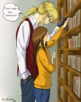 Jareth Teacher and Sarah - library by Aniyumex