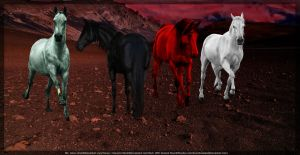 Four Horses of the Apocalypse by ScarehManips