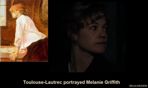 Toulouse-Lautrec portrayed Melanie Griffith by AnaHellaHeaven