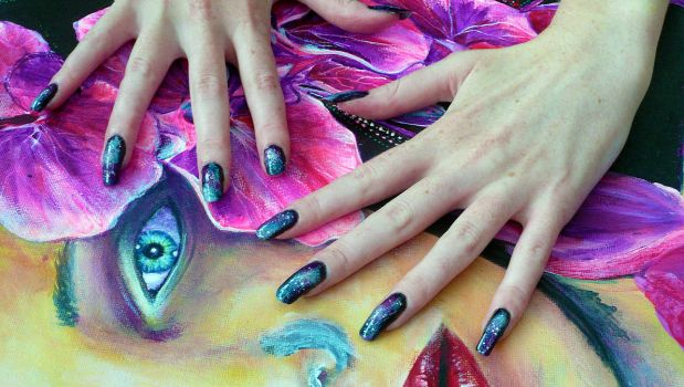 Galaxy Nails by soyoubeauty