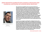 John Kenneth Galbraith on socialism and capitalism by YamaLama1986
