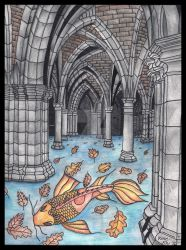 Koi and Arches by thevioletduchess