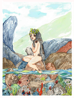 L'Amour d'une Selkie - Free time by Aludoudhy
