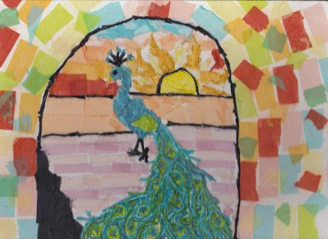peacock mosaic project by zippymom97