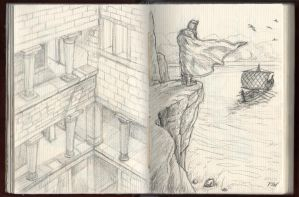 Myth sketches by Panaiotis