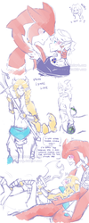 BOTW Sidon and Monster Link doodles  (SidLink) by keary