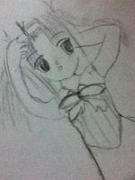 my drawings- little girl and.. by littlebluewildfire