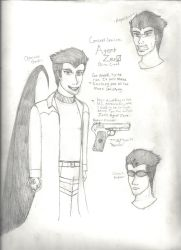 Project Elemental: Concept Sketches: Agent Zero by Sable-The-Wolf