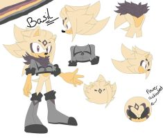 Basil Abdul (the hedgehog) by BlondeSpirit