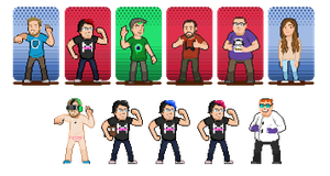 Youtuber Spriteset: The Big 3 by CaptainQuestion