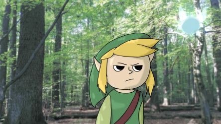 Annoyed Link and annoying Navi - Animation Loop by danieldandro