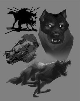 Angry Dogs by aignavus