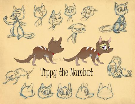 Routine - Tippy Model Sheet by KicsterAsh