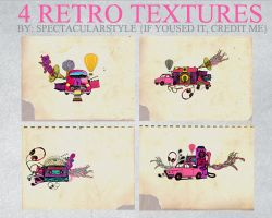 4 retro textures by spectacularstyle