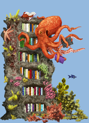 Octopus Librarian by hwango