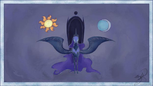 My Little Pony Nightmare Moon by kaizerin