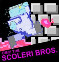 OMG The Scoleri Bros NES cartridge label by Derrico13