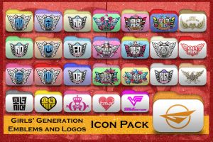 SNSD Emblems and Logos Folder Icon Pack by Rizzie23
