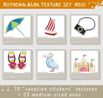Txt Set 21: Vacation Stickers by Ruthenia-Alba