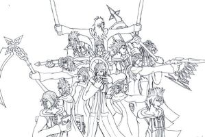 Agito Org. XIII Lineart by fridayivy