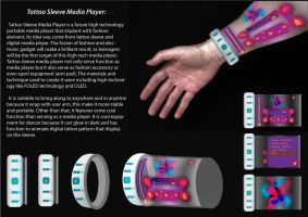 Tattoo Sleeve Media Player by helios1027