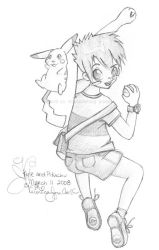 Kyle and Pikachu by bearhugplz