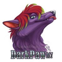 DarkPaw117 Badge Commission by GoldenDruid
