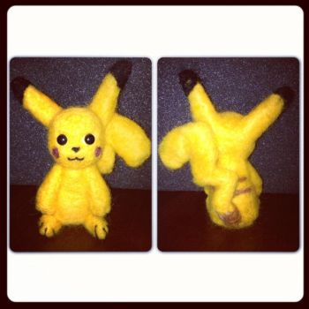 Needle Felting: Pikachu by Avi-Ayuni